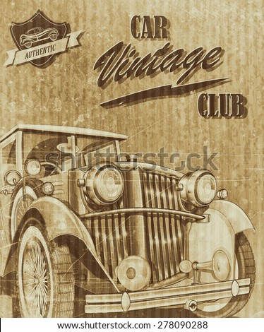 Vintage car club - stock photo