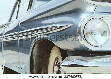 Vintage Car Side - stock photo