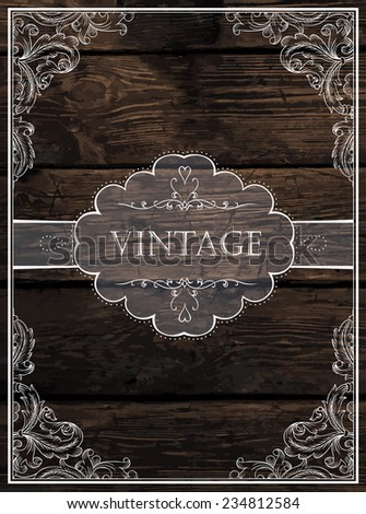 Vintage Card Design. Raster version - stock photo