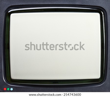 Vintage cathod ray tube television screen close-up - stock photo