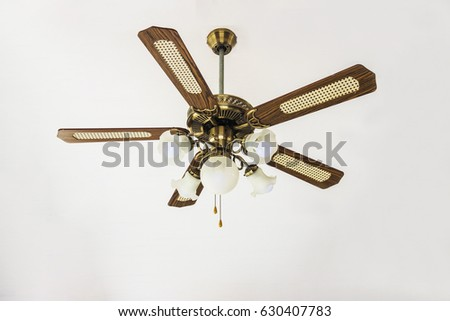 vintage ceiling fan on white background - Vintage Ceiling Fans