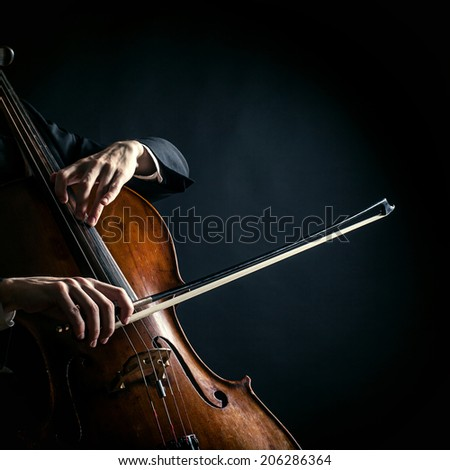 Vintage cello - stock photo