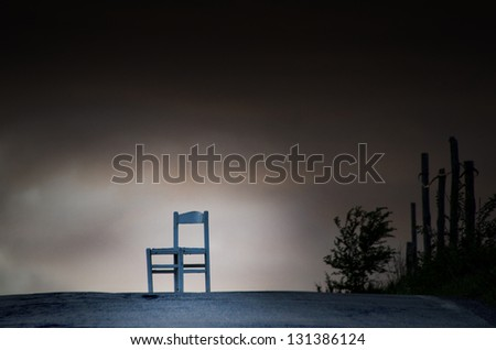 vintage chair - stock photo