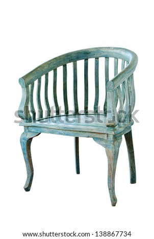 Vintage chair isolate on white - stock photo
