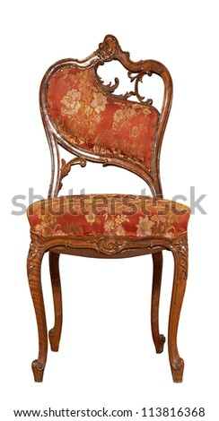 Vintage Chair isolated on white background - stock photo