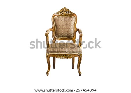 Vintage Chair on white