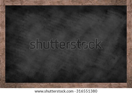 vintage chalk board background textures with old vintage wooden frame ,blackboard concept.school and business concept.put and shared or advertisement your idea or product on this picture.