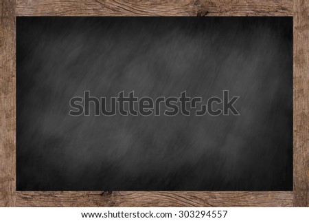 vintage chalk board texture with old vintage wooden frame.use for work about design,decorate,business,education