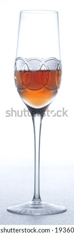 Vintage champagne with whiskey. - stock photo