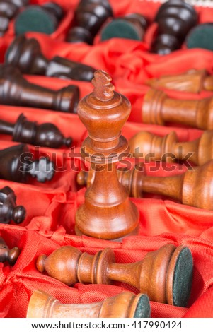 Vintage Chess Pieces in a Box