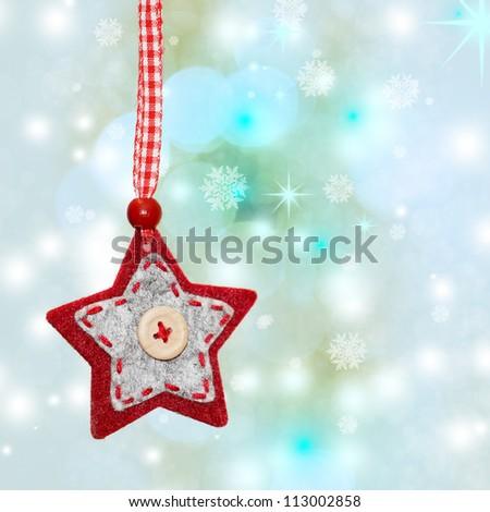 Vintage christmas star - stock photo