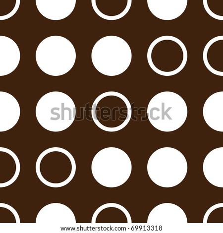 vintage circles seamless pattern - stock photo