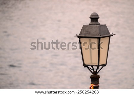 Vintage Classic Street Lamp Light Metal Lantern - stock photo