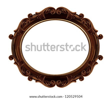 vintage classical frame - stock photo