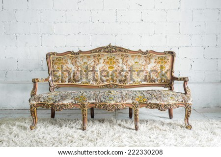 Vintage classical style Sofa bed - stock photo