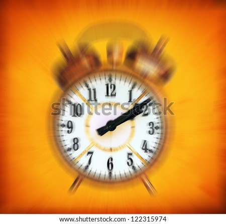 Vintage clock blured - Time passing concept - stock photo