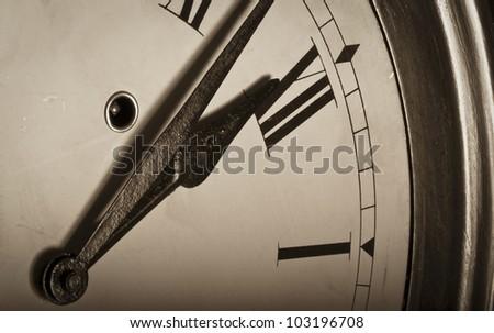 Vintage clock face - stock photo