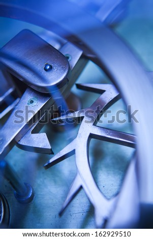 Vintage Clock Machine Cog, Business Cooperation, teamwork and time concept  - stock photo
