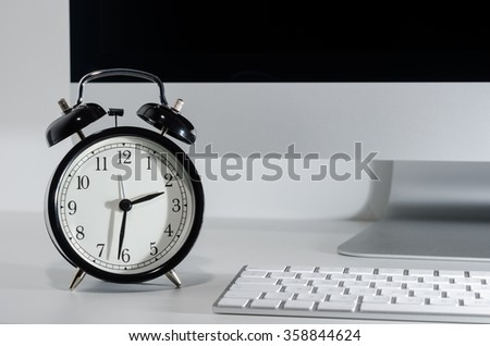Vintage clock on desk