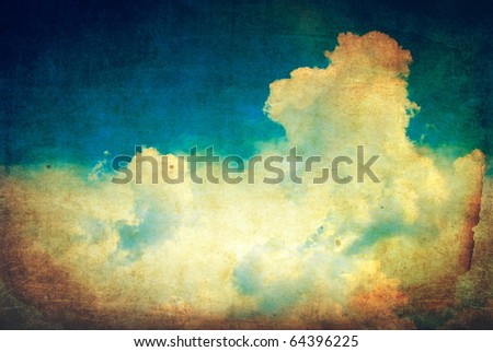 Vintage clouds and sky