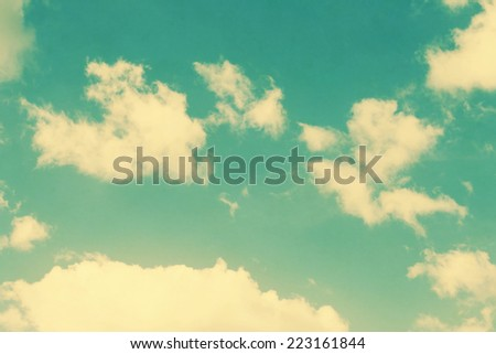 vintage clouds and sky background in sunny day - stock photo
