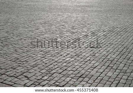 Vintage cobblestone pavement