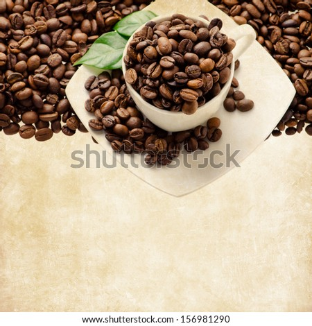Vintage coffee background