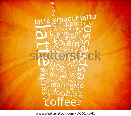 Vintage Coffee Poster - stock photo