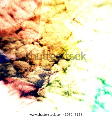 vintage colorful clouds, artistic abstract work - stock photo