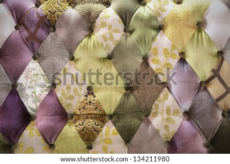 vintage colorful leather sofa texture - stock photo