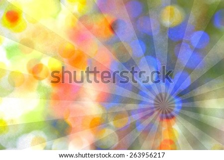 Vintage colourful background. Abstract colored rays.