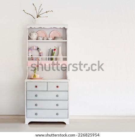 vintage cupboard - stock photo