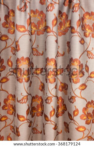Vintage curtain detail - stock photo