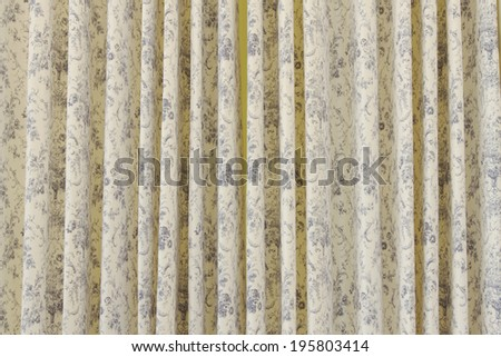 vintage curtain or drapery background - stock photo
