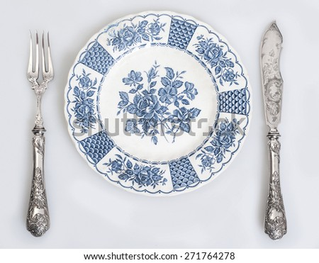 Vintage cutlery - stock photo