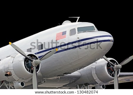 Vintage DC3 Dakota built by Donald Douglas - stock photo