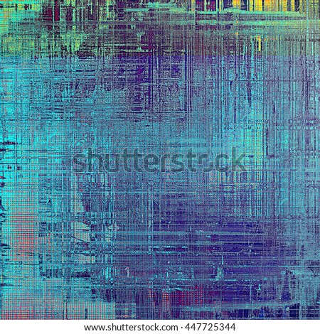 Vintage decorative background, antique grunge texture with different color patterns: yellow (beige); green; blue; red (orange); gray; cyan - stock photo