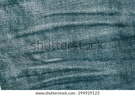 Vintage denim wrinkle with some shallow shadow