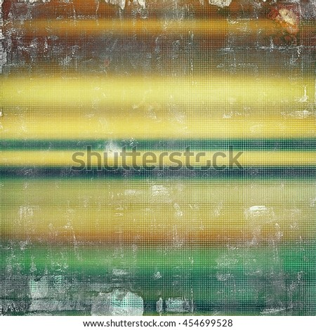 Vintage design background - Grungy style ancient texture with different color patterns: yellow (beige); brown; green; blue; cyan - stock photo