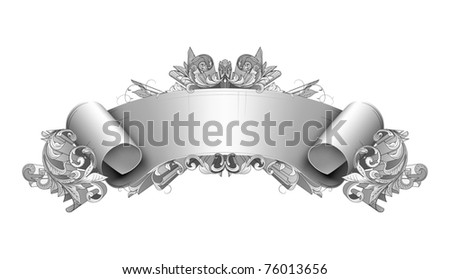 Vintage detailed banner, bitmap copy - stock photo