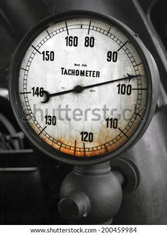 vintage dial - stock photo