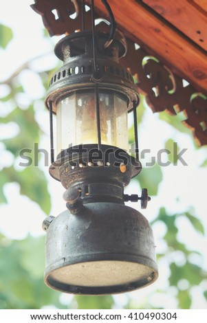 vintage dirty oil lamp