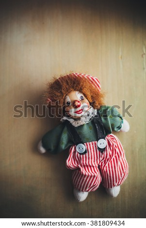 Vintage doll clown