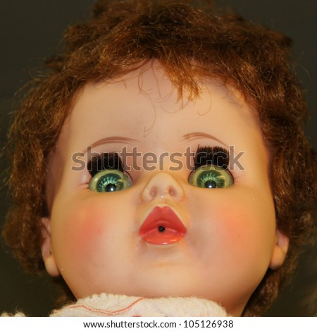 Vintage doll portrait - stock photo