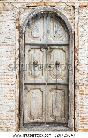 Vintage Door antique decoration home style.