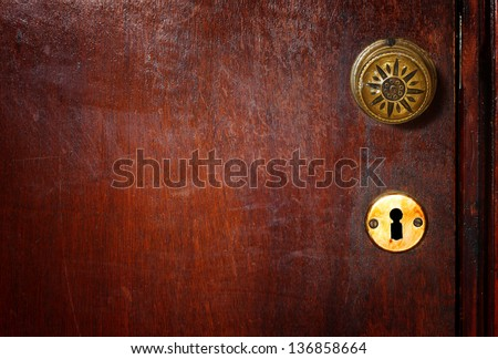 vintage door handle - stock photo