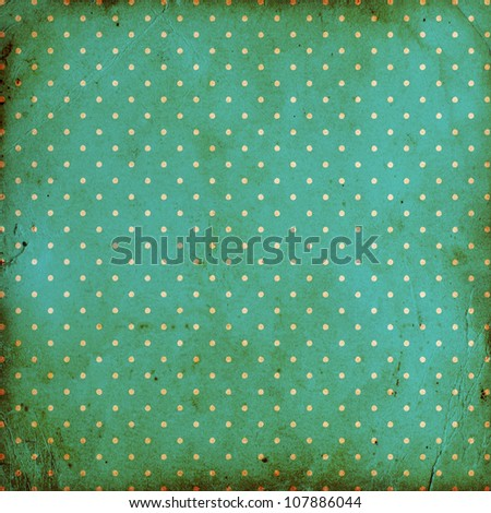 vintage dotted background with stains - stock photo