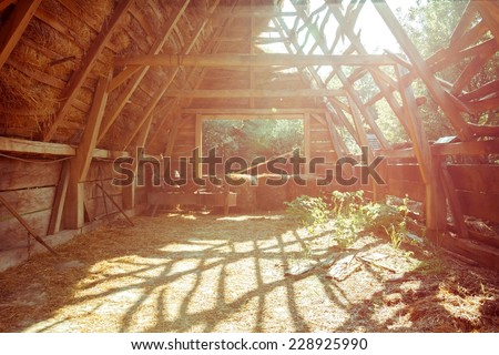 Vintage dreamy stable - stock photo