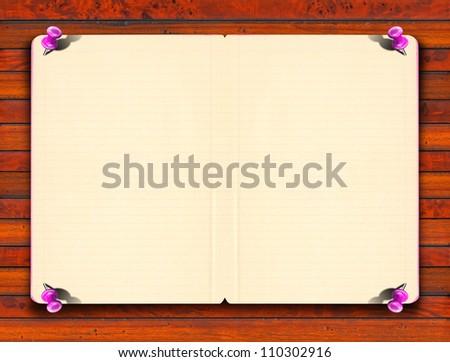 vintage empty paper blank notebook paper stock illustration