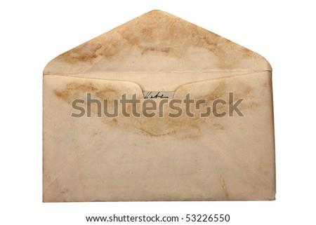 Vintage envelope - stock photo